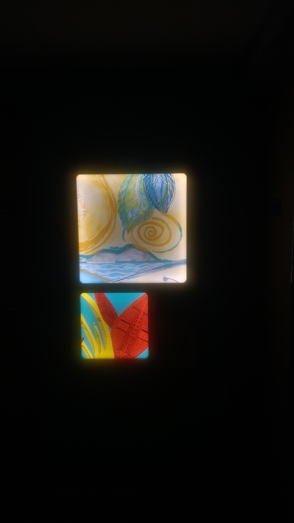 winnicott light boxes by bread art collective